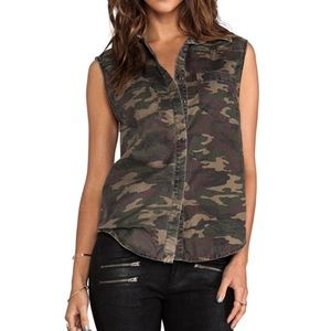 Ladakh NWT Street Camo sleeveless button down sz 6